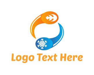 Ice - Hot & Cold logo design