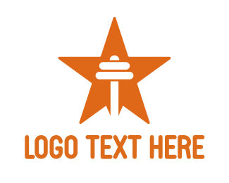 Crossfit - Orange Star Barbell logo design