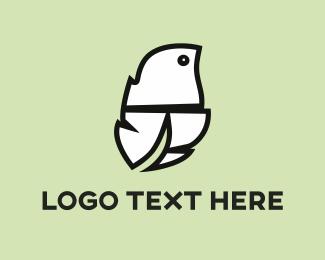 General - White Feather  logo design