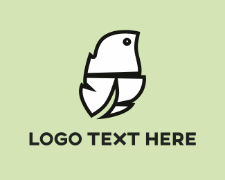 Feather - White Feather  logo design