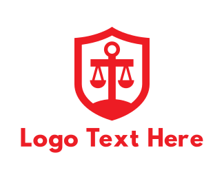 Security - Red Legal Shield logo design