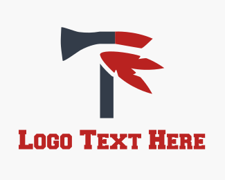 Weapon - Red Axe logo design