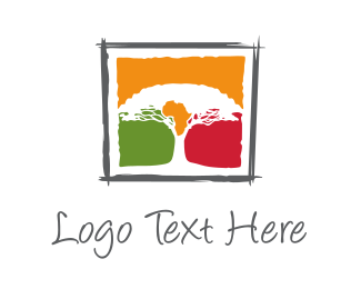 South Africa - Africa Tree logo design