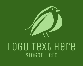 Chickadee - Leaf Bird logo design
