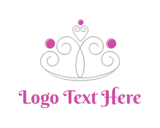 Pink - Girly Crown  logo design