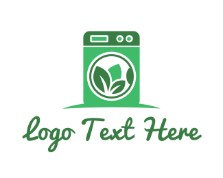 Cleaning Services - Green Washing Machine logo design