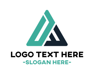 Abstract - Mint Abstract Triangle logo design