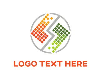 Grid - Tetris Squares Duo logo design