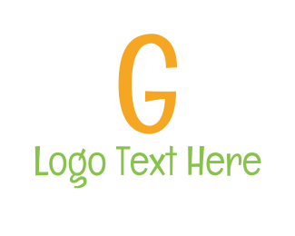 Handwritten - Comic Letter G logo design