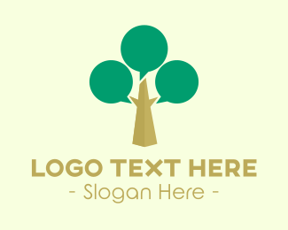 Meetup - Talk Tree logo design