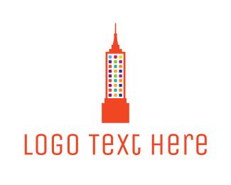 Artistic - Colorful Empire State logo design