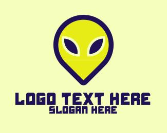 Cyan - Alien Ink logo design