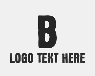 Text - Grey Letter B Ink logo design