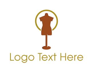Tailor - Brown Mannequin logo design