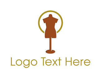 Fashion Designer - Brown Mannequin logo design