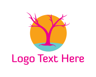 Drugs - Pink Tree logo design
