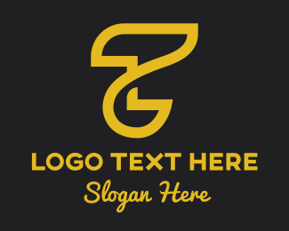Tan - Abstract Golden Letter T logo design