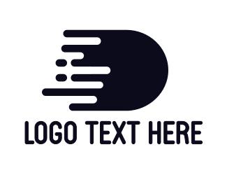 Bullet - Black D Splatter logo design
