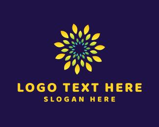 Daisy - Yellow Flower logo design