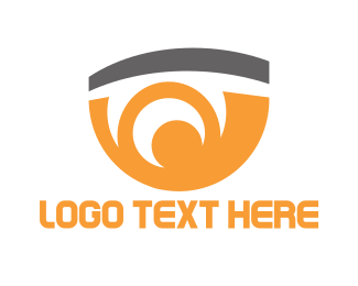 Eye - Orange Eye logo design