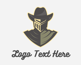 Mask - Cowboy Knight logo design