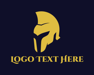 Gladiator - Golden Helmet logo design