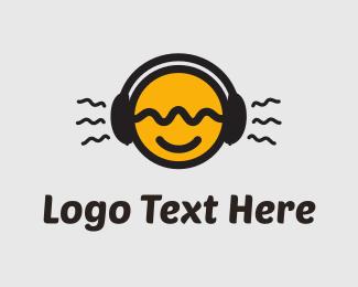 Hip Hop - Tune In Yellow Circle logo design