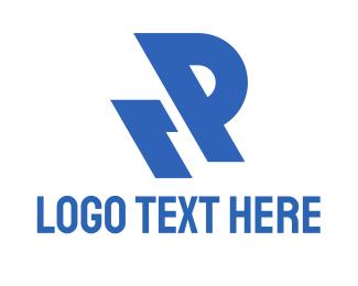 Rewind - R & P logo design