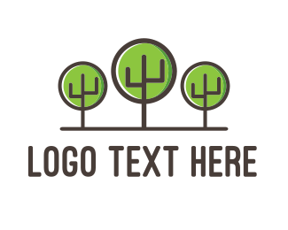 Ecology - Cactus Forest logo design