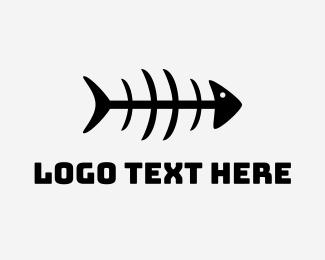 Holy - Mackerel Fish Bones logo design