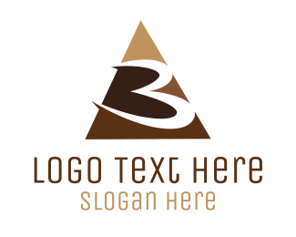 Number 3 - Number 3 Triangle logo design