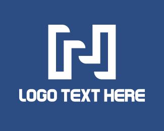 Line - Industrial Letter N  logo design