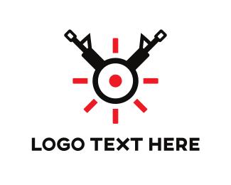 Online Store - Gun Target logo design