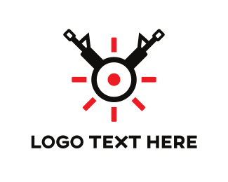 Bounty Hunter - Gun Target logo design