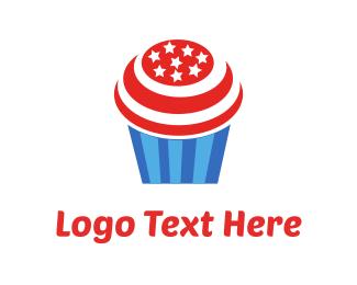 Cupcake - Cupcake USA logo design