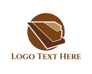 Timber - Wood Pyramid logo design