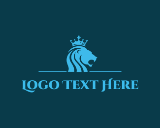 Newspaper - Blue Lion King logo design