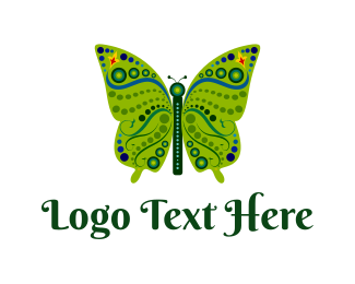 Butterfly - Green Butterfly logo design