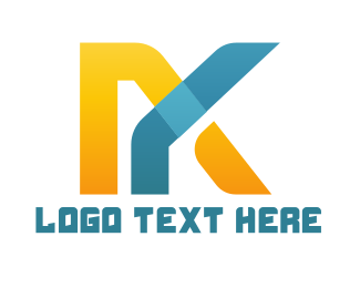 Lawyer - Abstract M & K Logo logo design