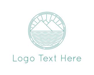Peaceful - Landscape Circle logo design