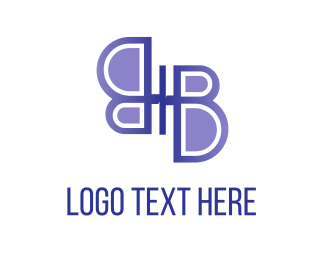 Lilac - Abstract Butterfly logo design