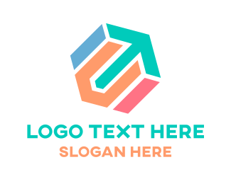 Export - Hexagonal Arrow logo design