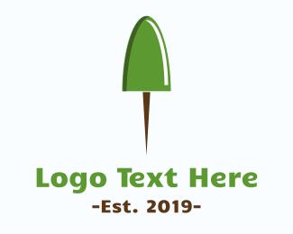 Pinterest - Pushpin Tree logo design