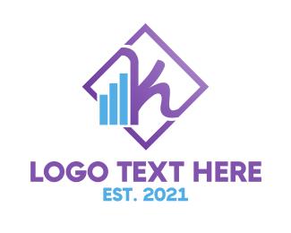 Cellphone - Violet Feminine Chart logo design