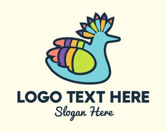 Duckling - Tropical Parrot logo design
