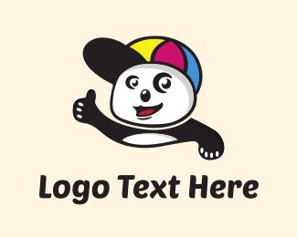 Bear - Cute Panda logo design