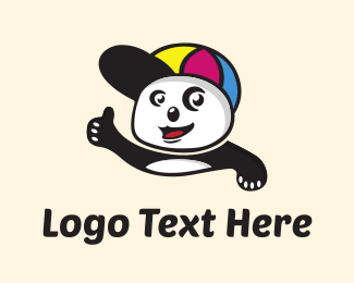 Cap - Cute Panda logo design