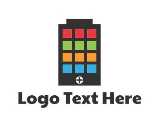 Charger - Battery Application logo design