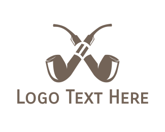 Nicotine - Double Pipe Cigar logo design