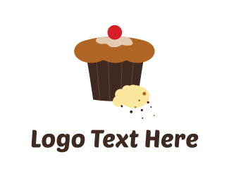 Bake - Chocolate Cupcake logo design